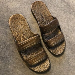 Brand new brown jandals